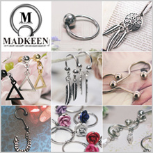 *Allergy-free* Drop Piercing / Korean Style Piercing / Earrings / Surgical steel  [PR]