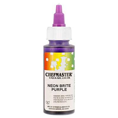 Chefmaster by US Cake Supply 2.3-Ounce Liqua-Gel Cake Food Coloring Neon  Brite Purple