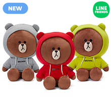 [LINEFRIENDS]CUDDLE DOLL_JUMBO_HOOD BROWN