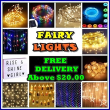 ★FAIRY LIGHTS FREE DELIVERY ABOVE $20.00 ] 120 Over Models - Walk in Purchase Available