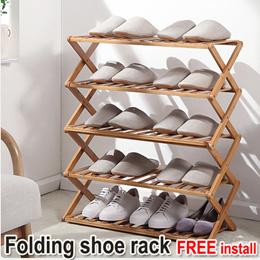 多层免安装折叠鞋架/ 简易防尘/ 鞋柜