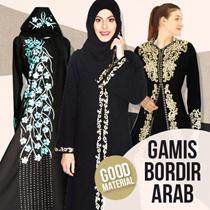 Promo SABELA Abaya bordir limited edition GOOD QUALITY / elegance