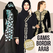 Promo SABELA Abaya bordir limited edition GOOD QUALITY / elegance