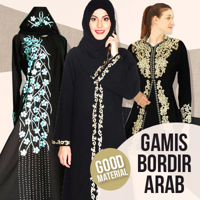 Promo SABELA Abaya bordir limited edition GOOD QUALITY / elegance Deals for only Rp169.000 instead of Rp169.000