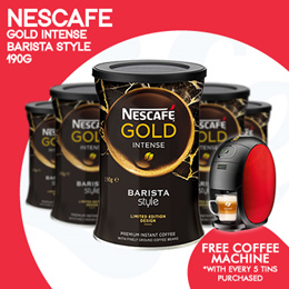 [NESTLE] Buy $80 worth of NESCAFE products and get a free Barista Coffee Machine