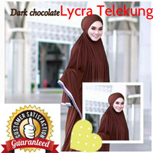 CRAZY SALE* CLEAR STOCK* Telekung Lycra *Premium Quality*Cooling*Comfortable*Hijab