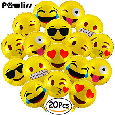 Pawliss Emoji Birthday Party Balloons Plush Keychains Supplies Favors Gifts Stuff For Kids Pin