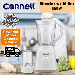 Cornell Blender with Miller 1.5L with Plastic Jar CBL-S250PM (1 Year Warranty)