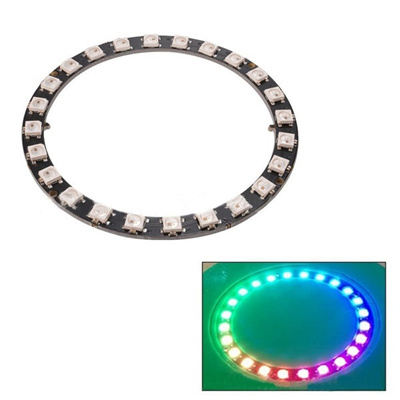 WS2812B 5050 RGB LED Ring 24Bit RGB LED + Integrated Drivers For Arduino  (Size: One Size)