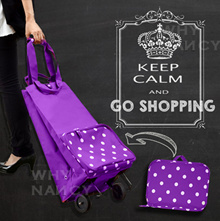 Collapsible Foldable wheeled trolley shopping cart Bag ☆☆Gift for him or her ☆☆