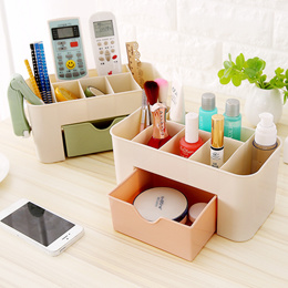 fashion high quality home storage box desktop shelves storage case makeup cosmetic organizer