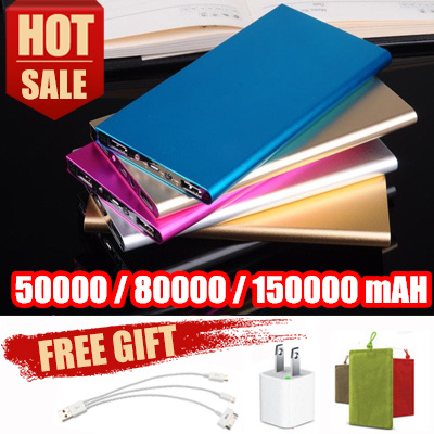 ?Local shipping?Hot sale?Newest super slim powerbank?Mobile Power Bank 150000mah 80000mah portable Deals for only S$39 instead of S$0