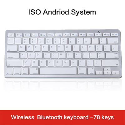 Bluetooth Wireless Keyboard Gaming Slim Multimedia Key ISO Android System  78keys Durable Home Offic