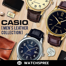 *APPLY 25% OFF COUPON*  *CASIO GENUINE* MENS LEATHER WATCHES! Free Shipping!