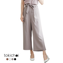 TOKICHOI - Tie Belted Striped Pants-180875