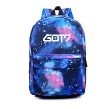Popular! quality assurance! GOT 7 Backpack Starry Sky Bag Pen Light GOT 7 Collectibles Bulletproof Boyhood Team / BTS GOT 7 EXO VIXX Bigbang same style backpack tote bag