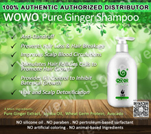 WOWO Ginger Shampoo / Hair Mask / Hair Essential Oil. FREE gift with every purchase.