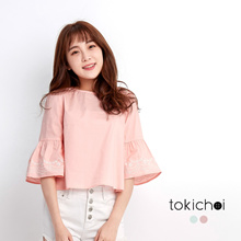 TOKICHOI - Embroided Sleeves Top-170889
