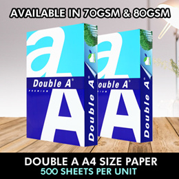 Promo - Double A A4 70 GSM / 80GSM papers 5 Reams/per Carton