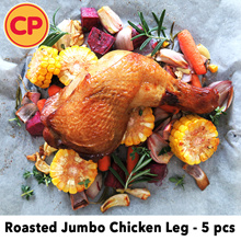 [CP Food] Roasted Chicken Jumbo Leg 5pcs x 290g. Halal. (Frozen)