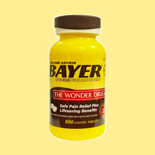 Genuine Bayer Aspirin, 325 mg,  500 / 1000 Coted Tablets