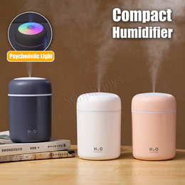 300ml Portable Mini Air Humidifier USB Diffuser Purifier Car Humidifier With LED Night Light