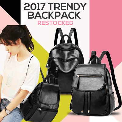 TRENDY LADIES SOFT PU LEATHER KOREAN BACKPACK . Deals for only Rp129.000 instead of Rp129.000