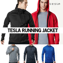 ★TESLA Zip up T shirts Running Jacket★ Sports wear jacket T shirts light weight running zip up