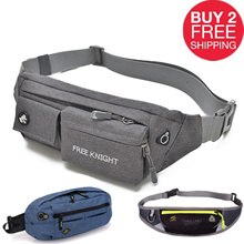 NEW【buy 2 free shipping】Free Knight Travel Nylon Waterproof Portable Men Waist Belt Bag Close Fit