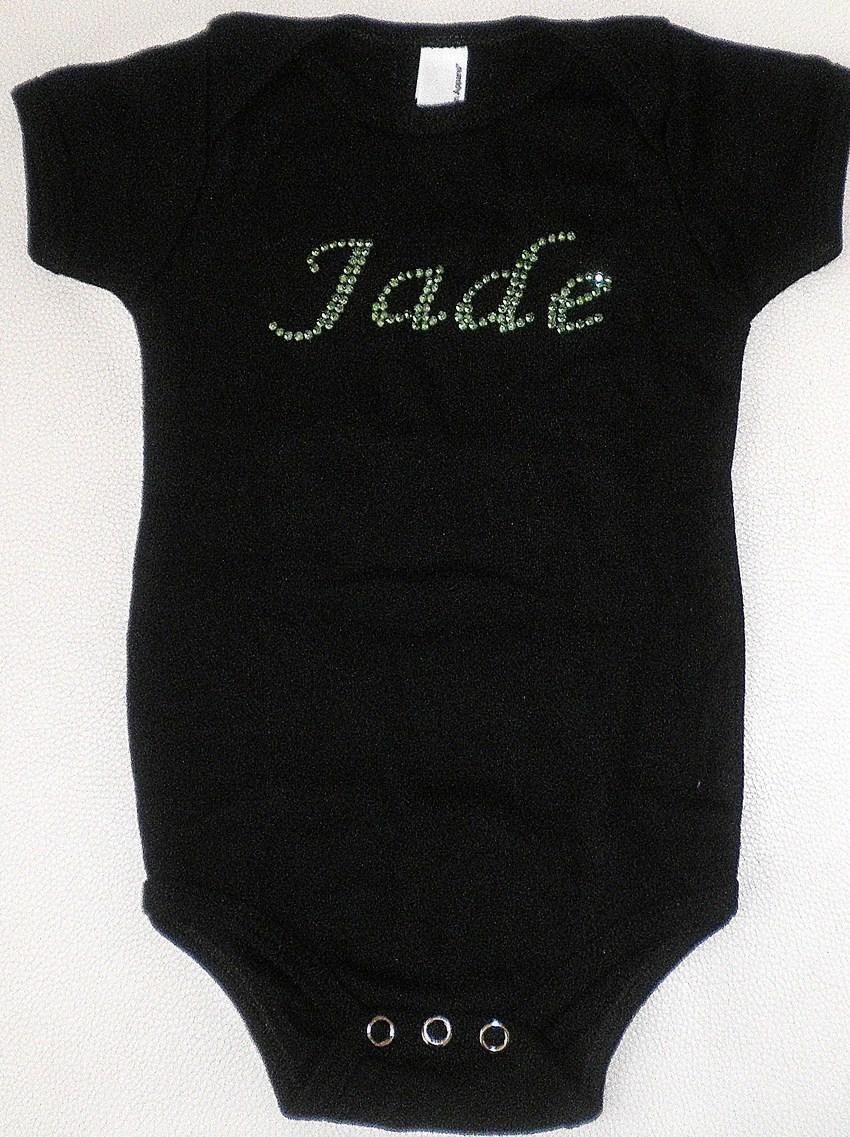 03ca0dddc3c actual size. prev next. Customised Baby Rhinestone Onesie Romper