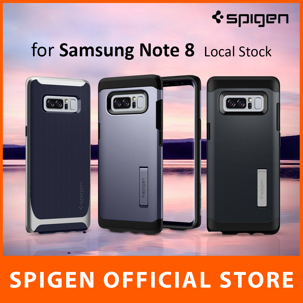 Qoo10 Spigen Note 8 Case Mobile Accessories Military Armor Samsung Galaxy S7 Flat Crystal Shell Original Show All Item Images