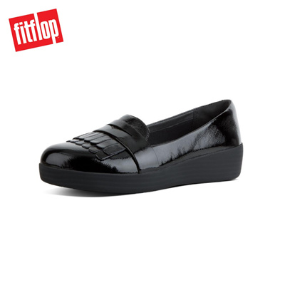 f30a57f7142 Qoo10 - Fitflop™ Fringey Sneaker Loafer Black   Shoes