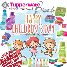 TUPPERWARE CHILDREN DAY GIFT Bottle Lunch Box Strap Pouch Mug Cup [Random Colours]