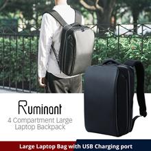 ★Elecom Japan★ 4 Compartment Laptop Backpack / ~15.6 inch laptop / USB Charging port