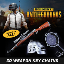 PUBG Battlegrounds - 3D Weapon Zinc Alloy Model Key Chain Pendants. Ideal Birthday Gift