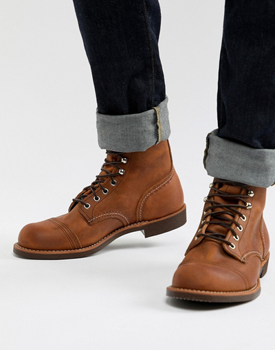 56d60ad6263 RED WINGRed Wing Iron Ranger lace up boots in copper leather