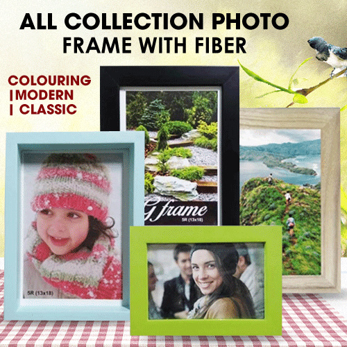[ON SALE] ALL COLLECTION PHOTO FRAME COLOURING/MODERN/CLASSIC/WITH FIBER Deals for only Rp35.000 instead of Rp47.297