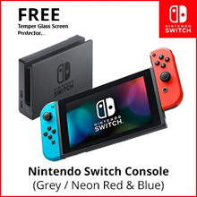 Nintendo Switch Console System // Neon Red Blue / Grey // Local Warranty with Freebies