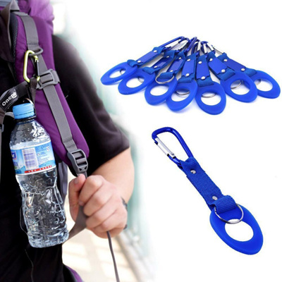 Water Bottle Holder Hook Strap Belt Clip Buckle Carabiner Travel Camping Hiking