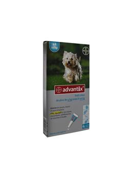 Bayer Advantix Small Dogs 4-10 kg 4 Pipettes
