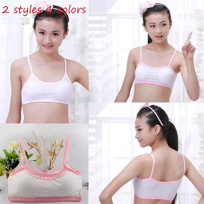 3f21c0993c Teenage Girl Underwear Multicolor Cotton Bras Breathable Training Bra for  Girls average size 2 Style