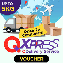 Qdelivery Service Voucher [Value S$ 4.5 / Up to 5.0 kg]  Only for Local Delivery (Singapore)