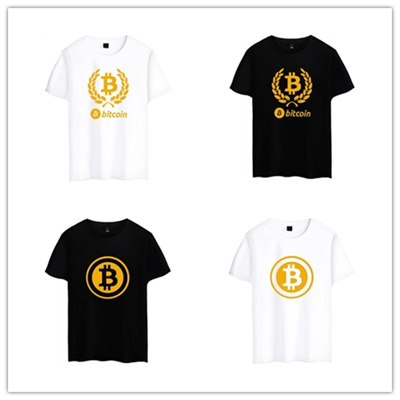ff9018ace8 Europe American Summer Fashion Bitcoin Printing Men Short Sleeve T Shirts  Hipsters Teens Casual Stre