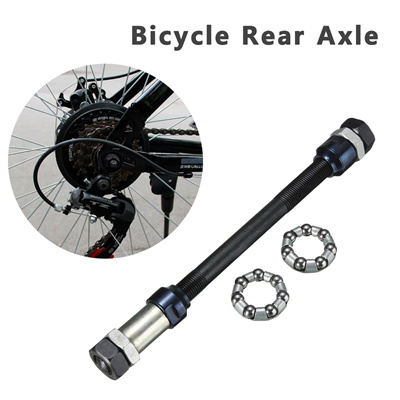 170mm Bicycle Bike Rear Hubs Wheel Axle Spindle with Cones + Nuts + Spacer  Bearings 3/8inch