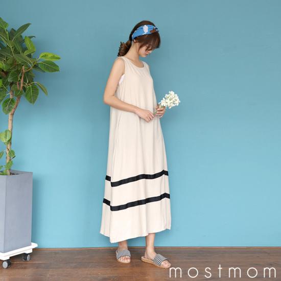のモスト・ママトゥラインロングワンピースM1727939 大きいサイズ/ワンピース/韓国ファッション