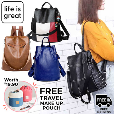 05614940c0d8   FREE Travel Makeup Pouch   Anti-Theft Backpack Travel Ladies - Shoulder