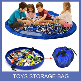 Kids Toys Storage Bag/ Portable Travel Picnic Playmat/ Organizer/ Toys Storage Carrier Bag