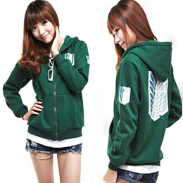Cosplay Hoodie Sweater Coat Attack on Titan no Kyojin Scouting Legion