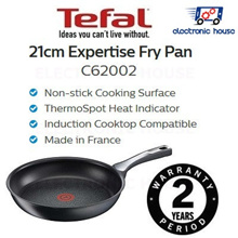 ★ Tefal C62002 Expertise Fry Pan 21cm ★ (2 Years Warranty)