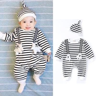 Qoo10 Karton Bayi Yang Baru Lahir Laki Laki Perempuan Baju Monyet Jumpsuit B Pakaian Anak